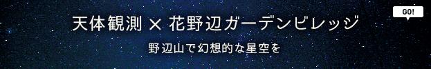 天体観測×花野辺ガーデンビレッジ 野辺山で幻想的な星空を