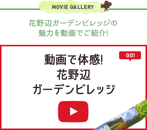 MOVIE GALLERY 花野辺ガーデンビレッジの魅力を動画でご紹介! 動画で体感! 花野辺ガーデンビレッジ GO!