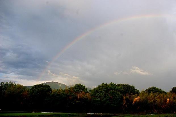 北杜市で見た虹